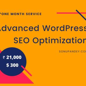 Advanced WordPress SEO Optimization ₹21000 or $300